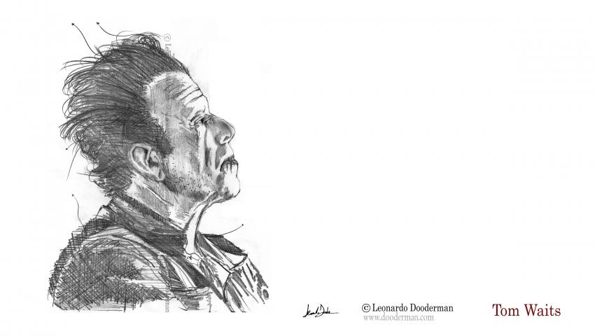 Tom Waits by leonardodooderman
